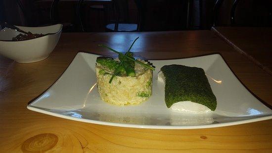 Siran, Frankrike: cabillaud fish with a risoto