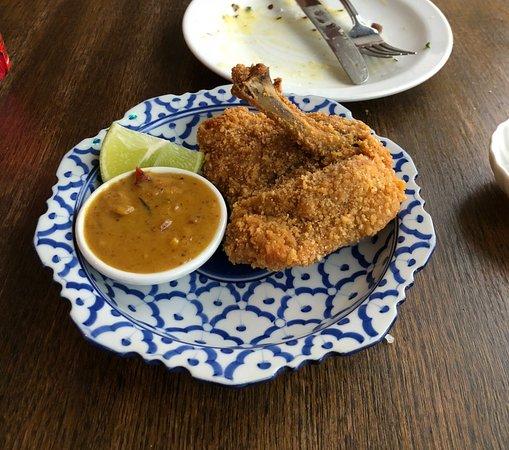 Lewisham, UK: Chicken satay.