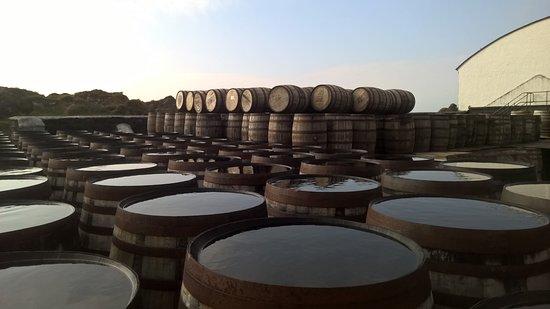Порт-Эллен, UK: fût de whisky