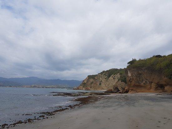 Machalilla National Park, Ecuador: Playa de arena negra