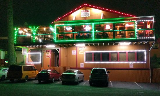 Crestline, CA: Nighttime Facade