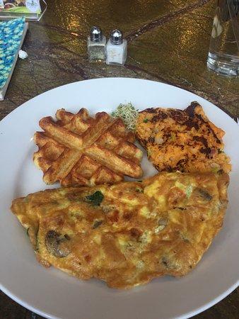 Fresh First: Omelet--horrible. Sweet potato mush--ugh