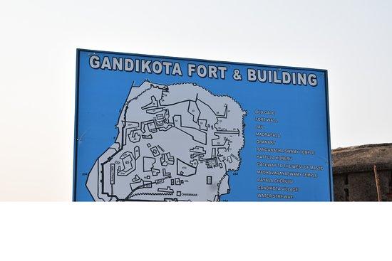 Gandikota, Hindistan: sign board