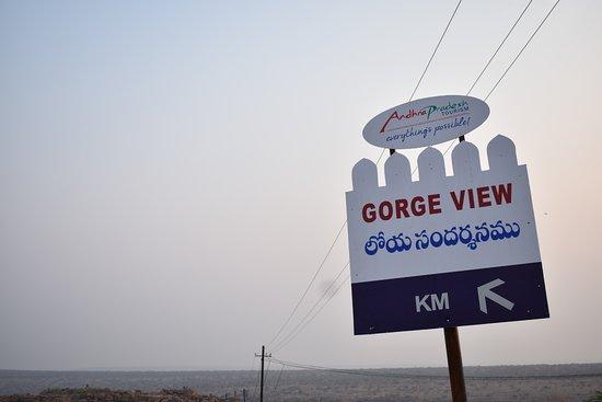 Gandikota, Hindistan: sign board 2