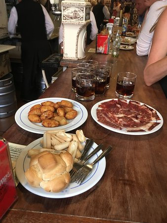 Tapas, Taverns & History Tour: Some of the tapas we enjoyed with Vermouth wine