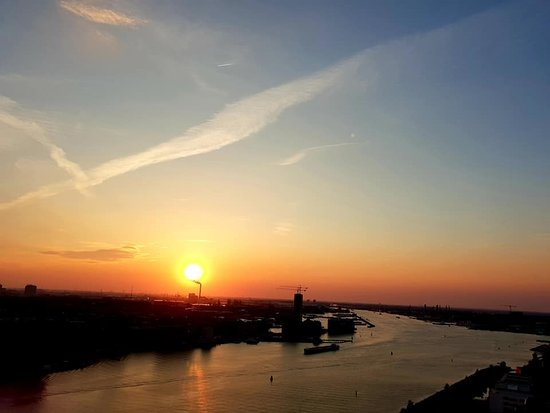 A'dam Lookout: Sunset over Amsterdam