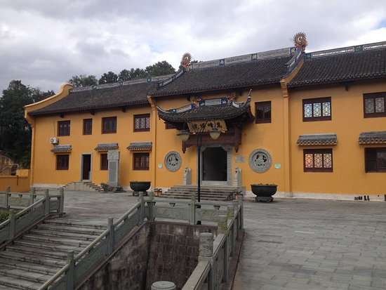 Zuyin Temple: The main gate. To get to this temple you need to climb up the hill for a long time