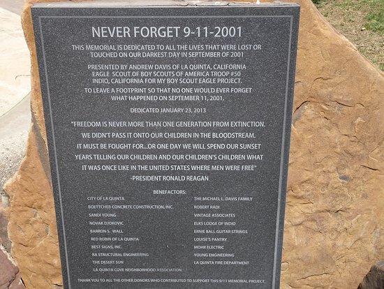 La Quinta, Californien: Monument marker