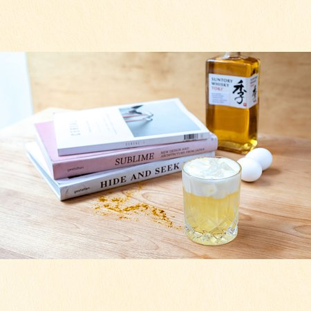Curry Whisky Sour with Suntory Toki