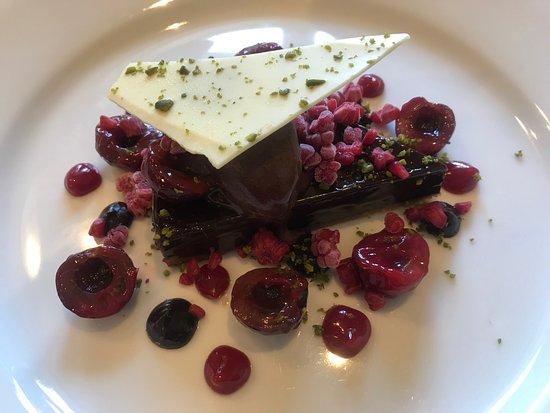 Samuel Fox Country Inn Restaurant: Chocolate tart