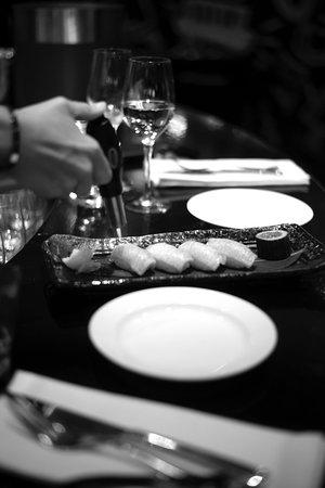 The Oyster Club: wagyu nigiris