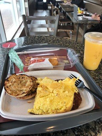 McDonald's: Overcooked And Burnt Eggs