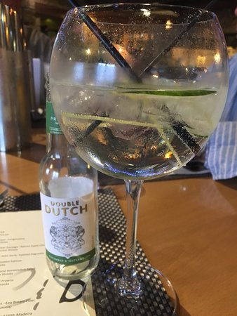Newton on the Moor, UK: Nice change having the cucumber and watermelon Double Dutch instead of tonic with the gin.
