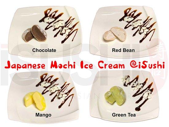 iSushi Omakase & Sake Bar: Japanese Mochi Ice Cream: Chocolate, Red Bean, Mango & Green Tea