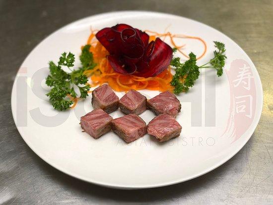 iSushi Omakase & Sake Bar: A5/BMS12 Authentic, Imported Miyazaki Beef (aka Kobe Beef)