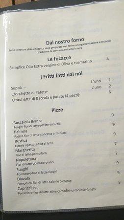 Osteria Palmira: Pizze, focacce e fritti