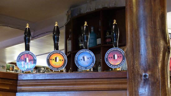 Isle of Whithorn, UK: These are 4 of the beers from their own 5 Kingdom brewery.