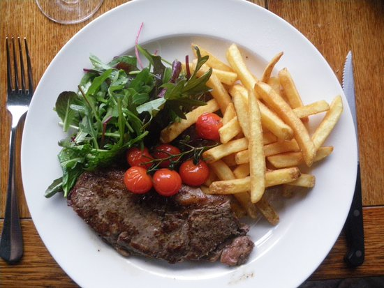 Crinan, UK: My sirloin steak.