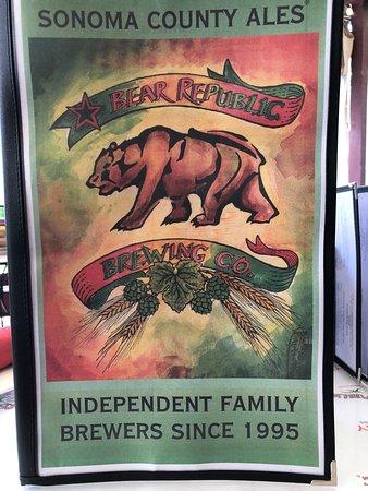 Bear Republic Brewing Co.: MENU