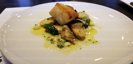 Row 34: Hake prepared with gribiche sauce