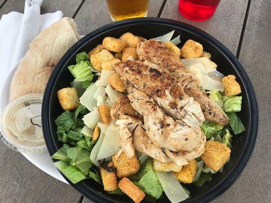 Chelmsford, MA: Chicken Caesar salad