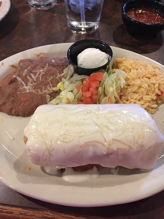 Maysville, KY: Chicken burrito meal