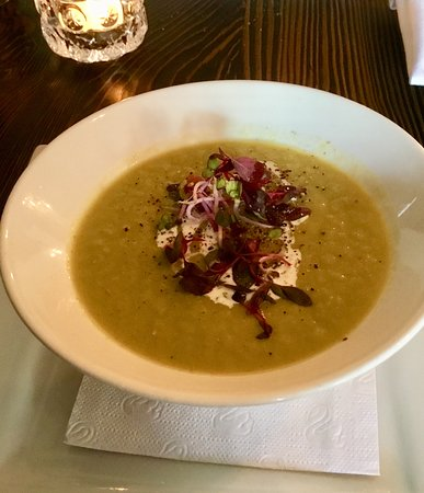 East & Main Bistro: Asparagus soup