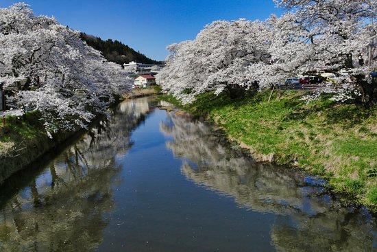 Ishikawa-machi, اليابان: 北須川遊歩道:橋からの撮影
