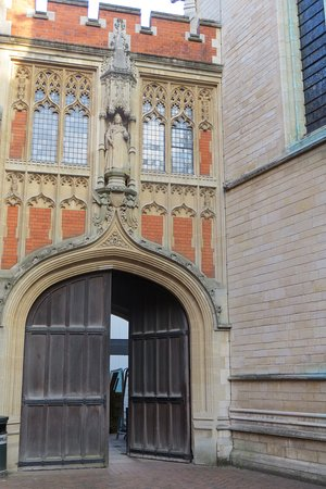 Eton, UK: Archway to Queen's Schools, referenced for the Natural History Museum item 12