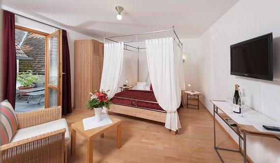 Floersheim-Dalsheim, Germany: Himmelbettzimmer zur Dachterrasse