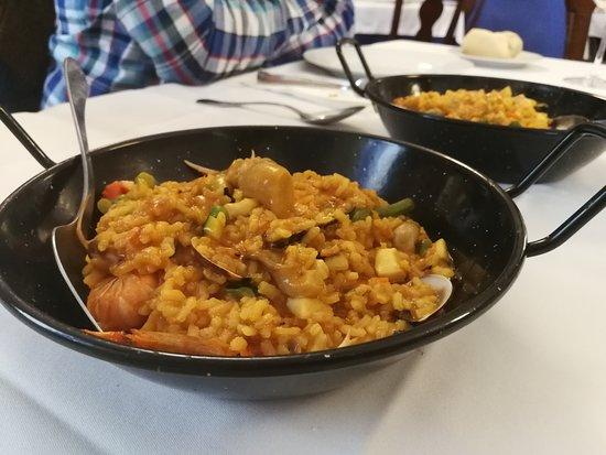 Bargas, Spain: Arroz con verduras y marisco