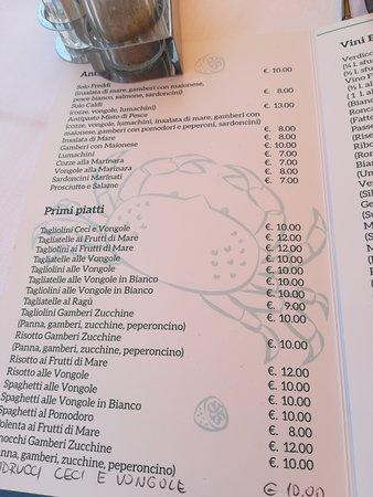 Ristorante La Rupe : menu'