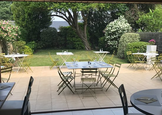 Le Lude, France: Terrasse