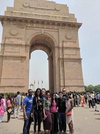 Go Hari India Tour: our traveller at Delhi India gate