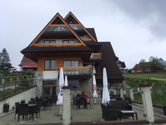 Kopieniec Hotel: View of our top room from the outside