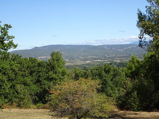 uitzicht vanaf Oppède-le-Vieux in de Petit Luberon