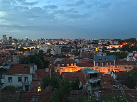 Lost In Esplanada Bar : View over Lisbon from outside restaurant