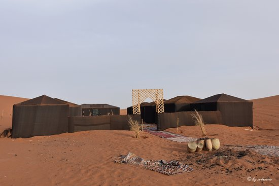 Desert Sand Camp: Eingang mit Lagerfeuerplatz