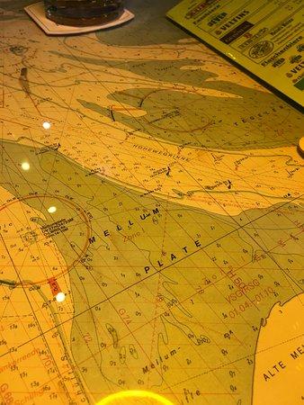 Butjadingen, Germany: Eine der Seekarten