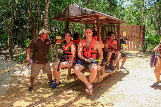 Puerto Aventuras, Meksika: On the horse-drawn cart to see Cenote #4