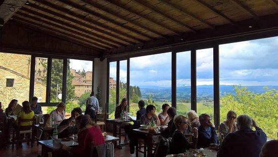 La terrasse - Bild von Bel Soggiorno, San Gimignano ...