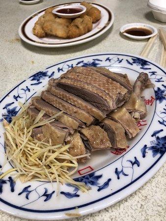 Jinshan Jinbaoli Old Street: A plate of the duck meat we had