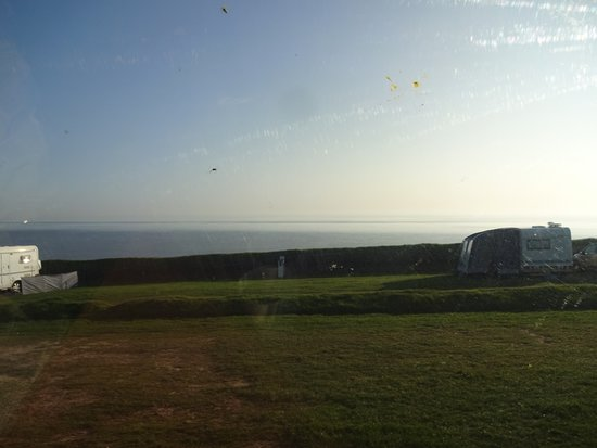 Mundesley, UK: Looking out to sea from van