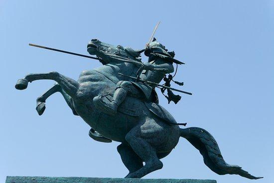 最上義光公勇戦の像。今まで見た...