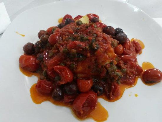 Cimitile, Italy: stoccafisso rosso