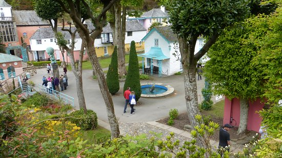 Portmeirion, UK: View from woodland trail