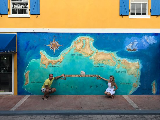 ‪Turks and Caicos Map Mural‬