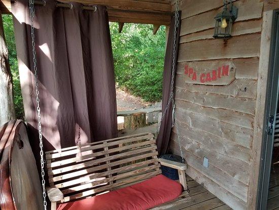 Spa Cabin porch
