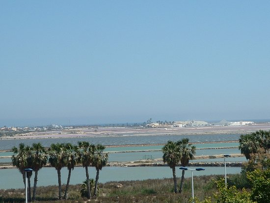 The salt pans at the north of the Mar Menor
