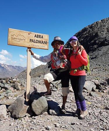 Andean Lodges: Fui requisitada para uma foto com nosso amigo arriero!!!